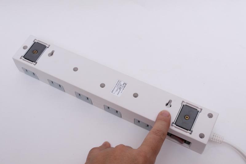 磁石がくっつかないところは、木ネジ2本で固定もできる