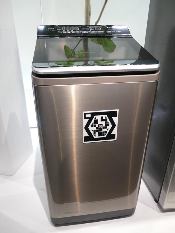 こちらはカレーモード搭載の洗濯機。洗濯機はその国の食文化と深く根付いているという