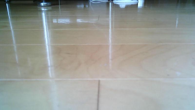 上向き最大にすると真上が見えます(左)。下向き最大にすると床が見えます(右