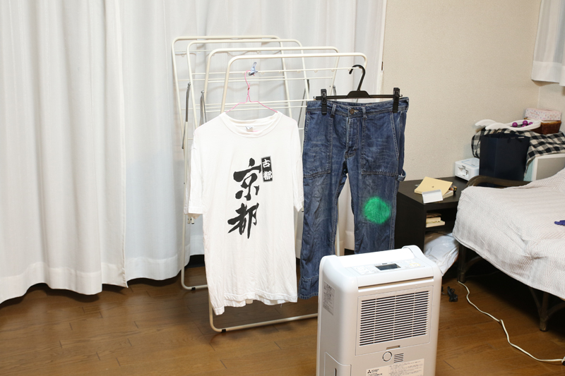 濡れている洗濯物を部屋の中から見つけ出して、そこをめがけて送風する、超インテリジェンスな衣類乾燥機