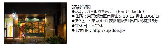東京・表参道にあるイタリアンレストラン「バール・ウギャッテ」と期間限定でコラボレーションする