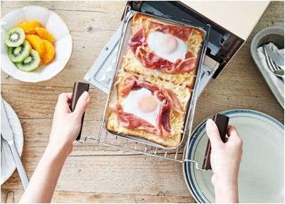 トースト2枚を並べて焼ける