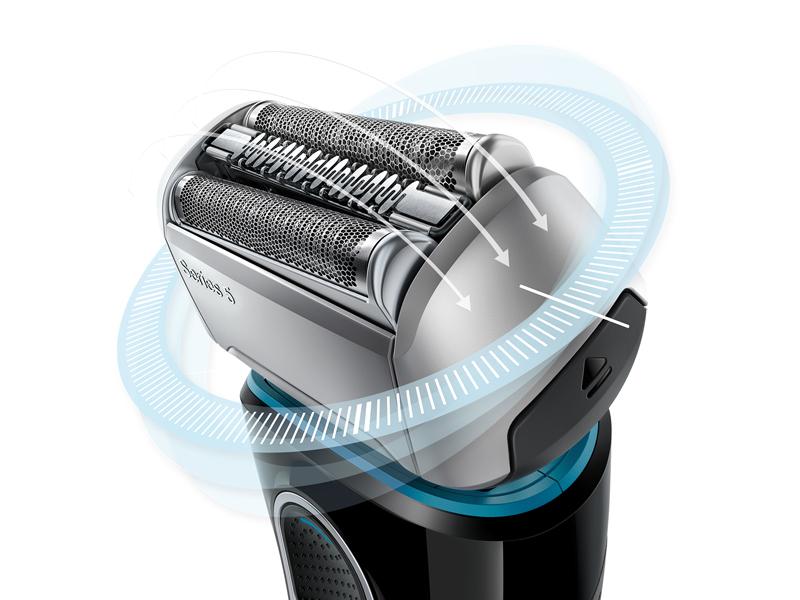 様々なヒゲを捕らえるよう異なる種類の刃を融合させることで、少ないストローク数で剃りきることが可能な「4カッティングシステム」を搭載