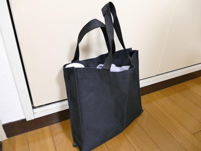 収納バッグにまとめて収納できる