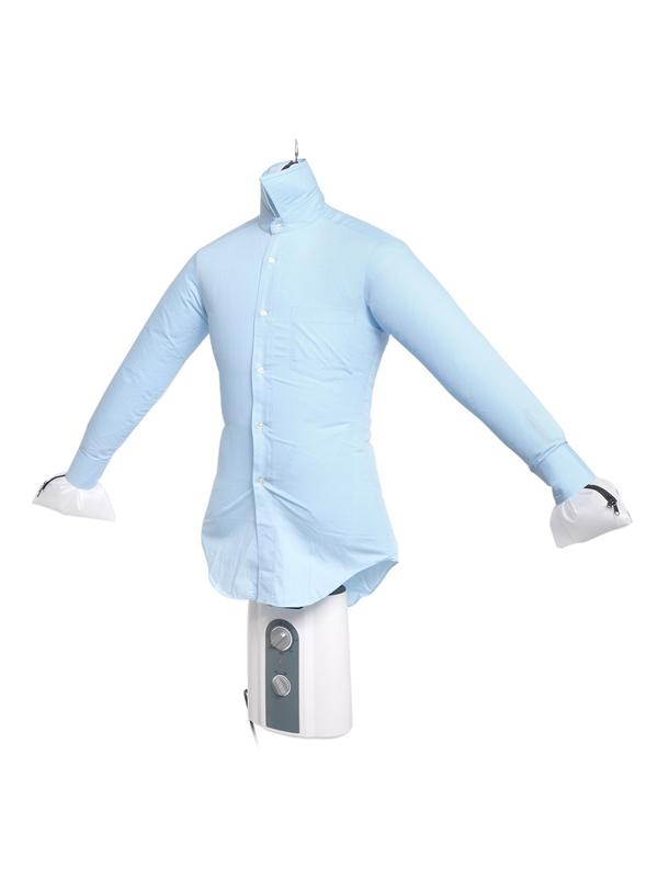 使うときは乾燥エアバッグにハンガーをセットし、シャツを着せてダイヤルを回すだけ