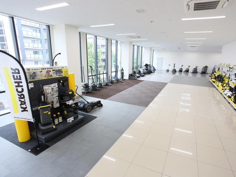 10種類の床材や住居空間の再現スペースを備えた「トレーニングルーム」