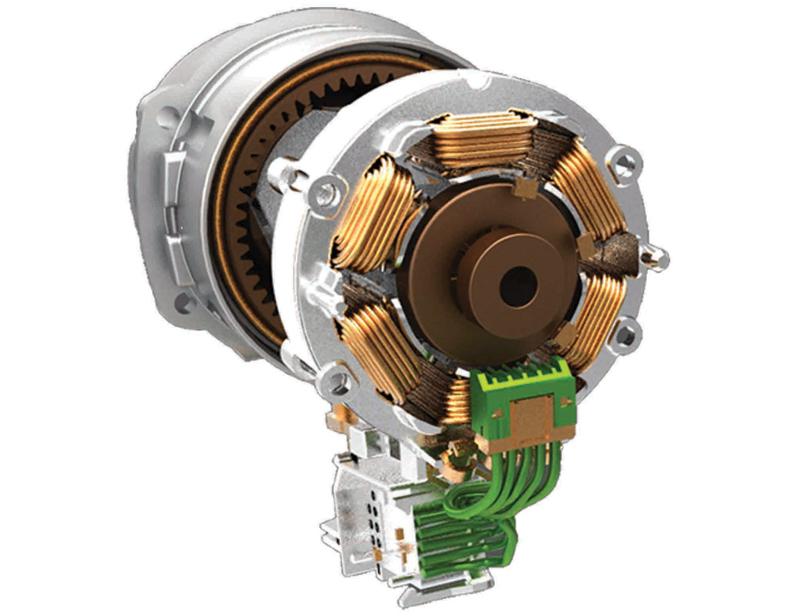 高効率で長寿命が特徴のブラシレスモーターを採用