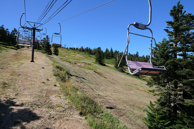 このリフトでほぼ山頂まで行けます
