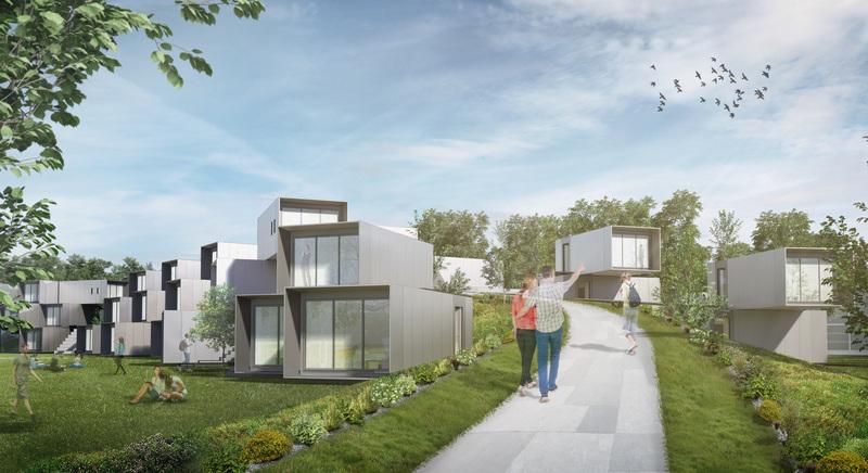 キャンパス内にはモジュール式の宿舎用ユニットが設置される予定