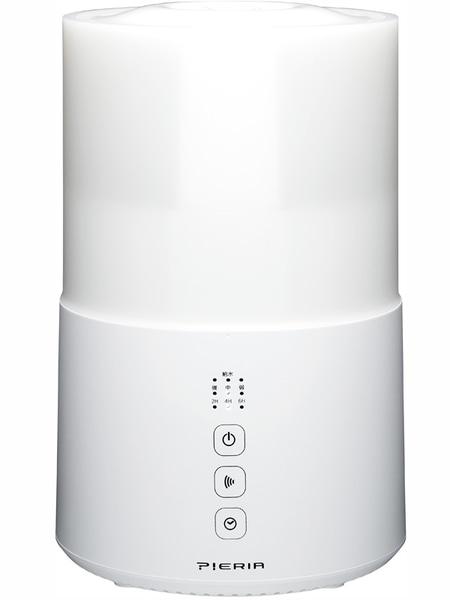 水タンク容量約2.1Lの「上部給水型超音波加湿器 KWS-302/SWK-302」。ホワイト