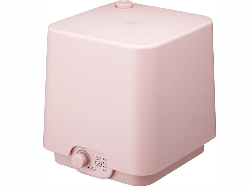 水タンク容量約2.7Lの「上部給水型超音波加湿器 KWS-303/KWS-3031/SWK-303/SWK-3031」。ピンク