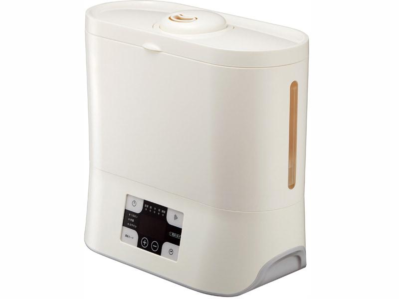水タンク容量約3.8Lの「上部給水型ハイブリッド式加湿器 KHS-602」。アイボリー