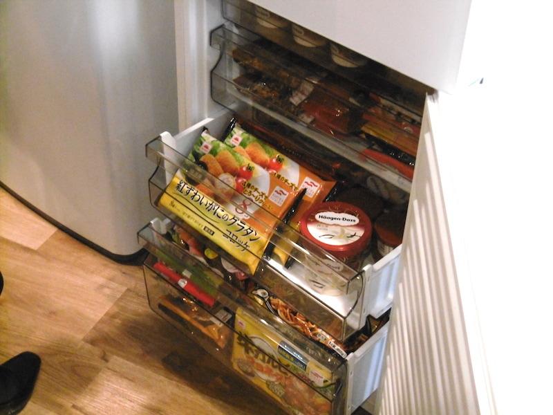 4段に分かれた冷凍室は整理整頓がしやすい
