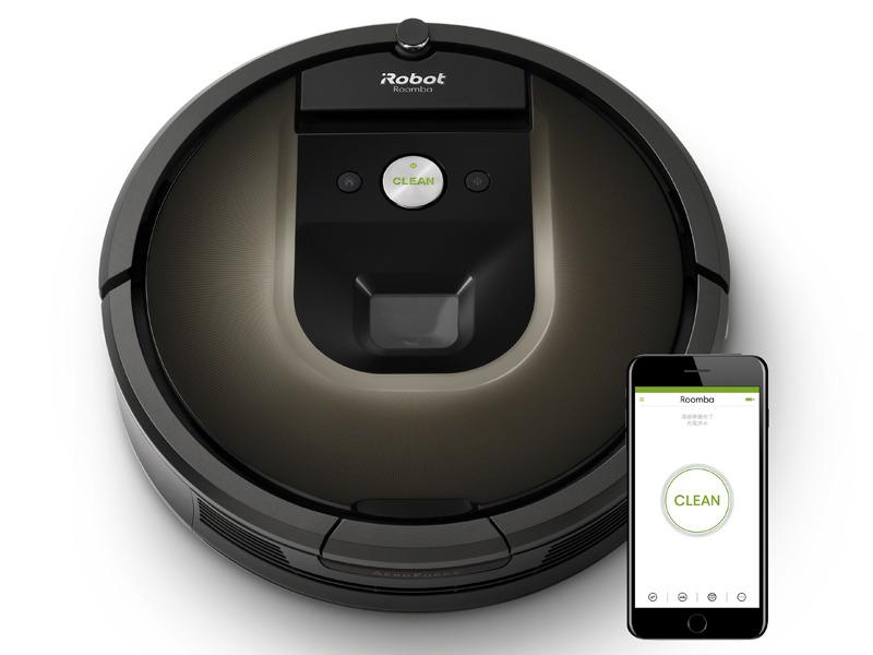 ルンバのWi-Fi対応モデルがGoogle Homeに対応する。写真は「ルンバ980」