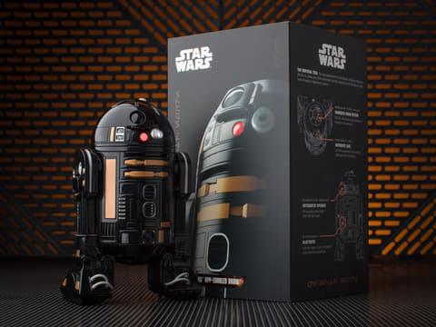 スフィロ、帝国軍のアストロメク ドロイド「R2-Q5」を再現したロボットトイ R2-Q5 アップイネーブルド ドロイド。(C) & TM Lucasfilm Ltd.