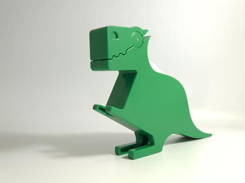 仕事場の雰囲気を、ちょっと明るくしてくれる恐竜型のメモホルダー DINO MEMO HOLDER