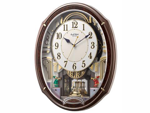 リズム時計、大胆なからくりパフォーマンスと48曲のメロディを搭載した電波からくり時計 本格的なからくりパフォーマンスと48曲のメロディを搭載した電波からくり時計「スモールワールドアルディ 4MN545RH23」