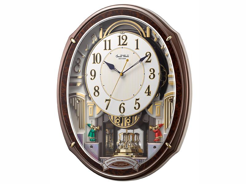 本格的なからくりパフォーマンスと48曲のメロディを搭載した電波からくり時計「スモールワールドアルディ 4MN545RH23」