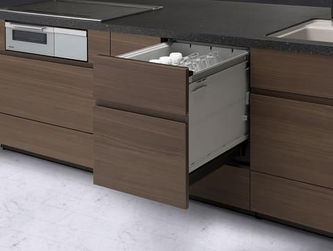 パナソニック、食器に応じてカゴ形状を変えられるビルトイン食器洗い乾燥機 「ビルトイン食器洗い乾燥機」フルインテグレートタイプ
