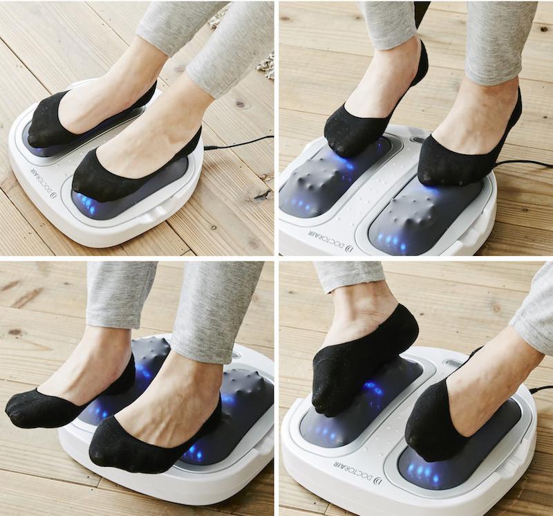 足裏からつま先・かかと・側面まで、疲れが溜まりやすい足全体を心地よく刺激する