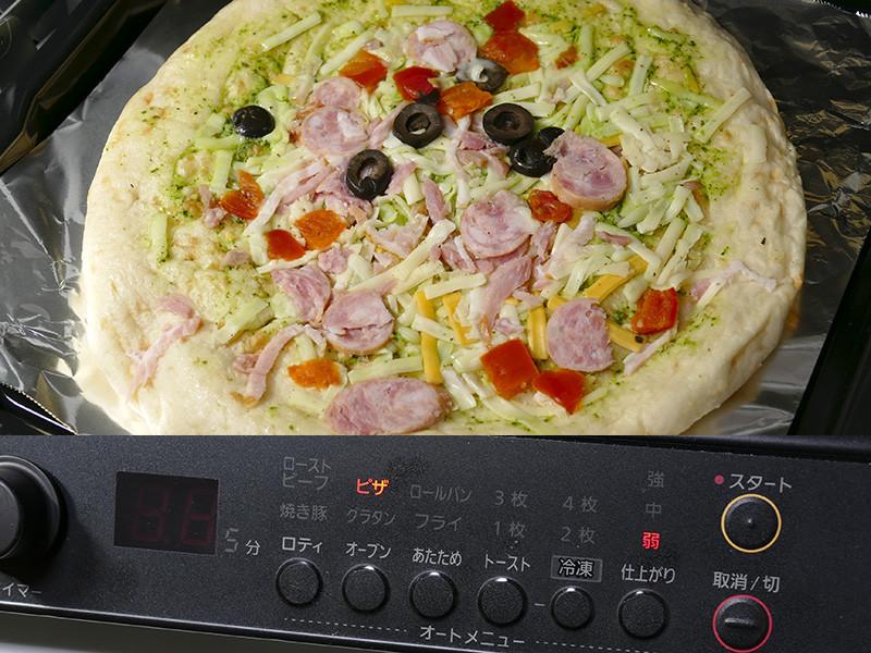 オートモードでも火加減が調整できるので、チルドタイプのピザもオートモードで美味しく焼ける