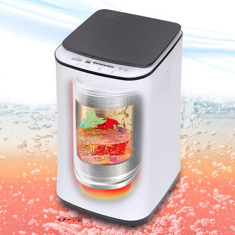 最大80℃の熱水で洗濯できる