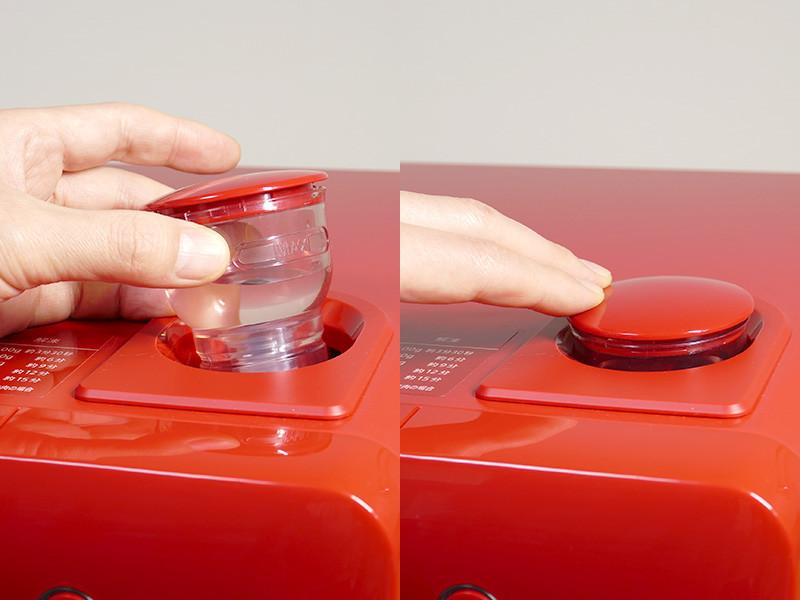 水タンクに水をラインまで入れてセットすれば、過熱水蒸気加熱はスタンバイOK