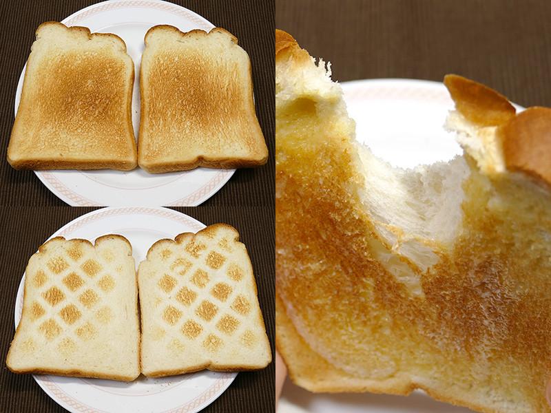 【トースト】過熱水蒸気のトーストは食パンの美味しさを最大限に引き出してくれる。冷めても固くなりにくい