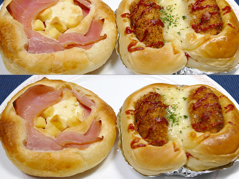 【厚みのある調理パン】高さのあるものも焦げずに中まで温められる。温かい方が断然美味しい