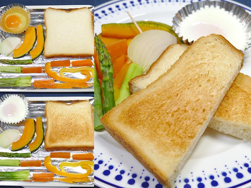 【モーニングセット】野菜の用意があれば、バランスの良い朝食が火加減も気にせずにパパっと調理できる