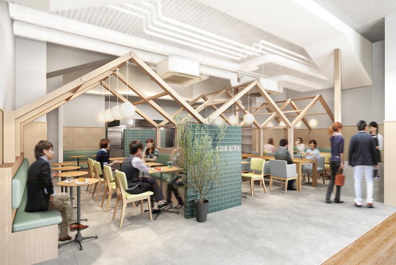 タニタカフェ有楽町店の完成イメージ