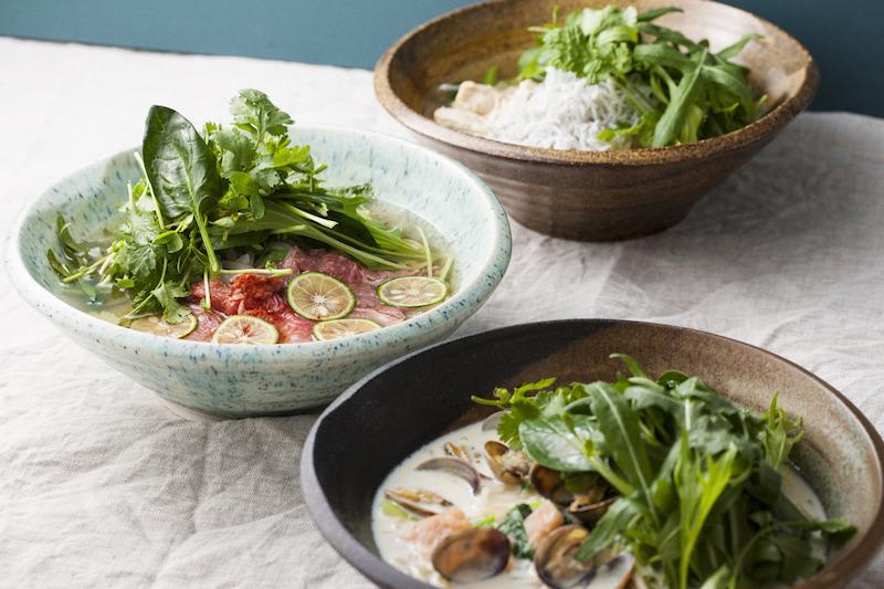 有機野菜と和だしの米麺(フォー)