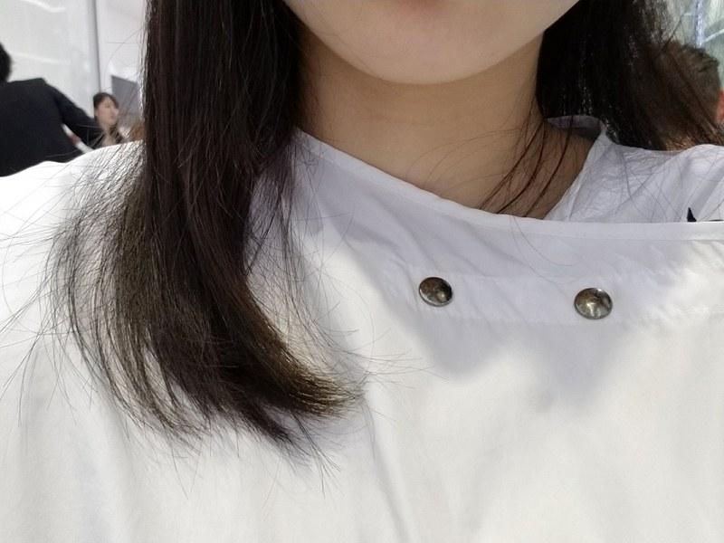 髪がストンとまっすぐになり、毛先はまとまっている