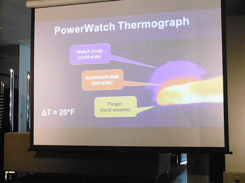 常に温度差が生まれる状態に設計し、体温での発電を可能にした
