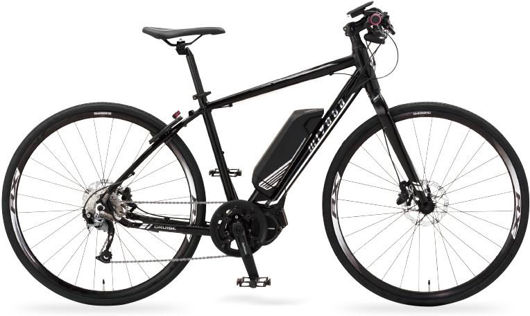 MIYATA「CRUISE」。2018年2月発売のクロスバイクタイプのe-bikeで、最長で約115km(ECOモード)の電動アシスト走行が可能です。メーカー税別価格26万9000円