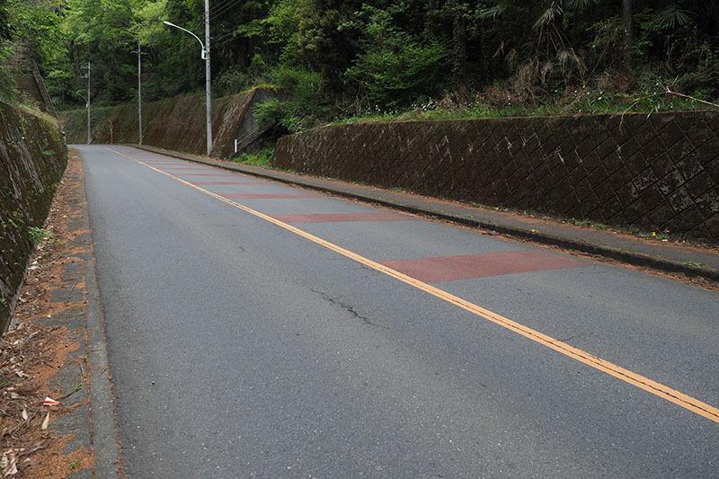 こんな感じの坂で、ロードバイクやMTBでも少々頑張って上る必要があります。ですが、CRUISEだとアッサリ上り終えてしまいました
