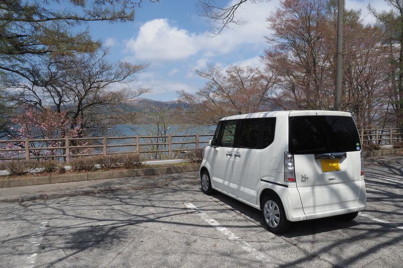 富士五湖のひとつ、山中湖へ! 愛車の軽自動車、ホンダ「N-BOX+」で! えっ? サイクリングじゃないの!?