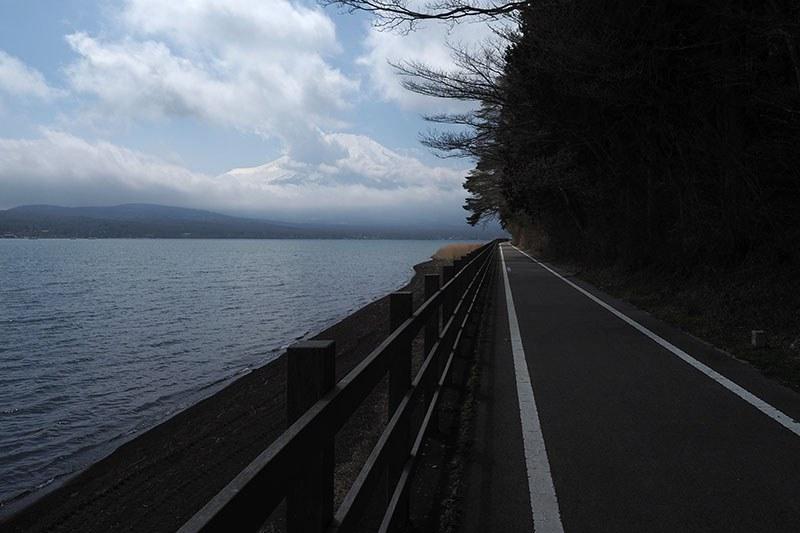 場所によっては富士山をずっと眺めながら走ることができます