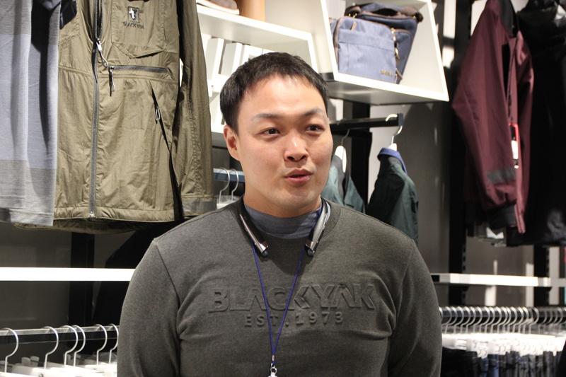 BLACK YAK 商品企画部 課長のチョ・カンニョン氏
