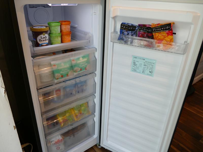 冷凍庫として利用した場合の庫内例