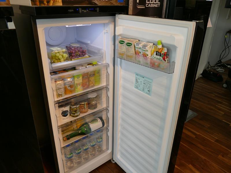 冷蔵庫として利用した場合の庫内例