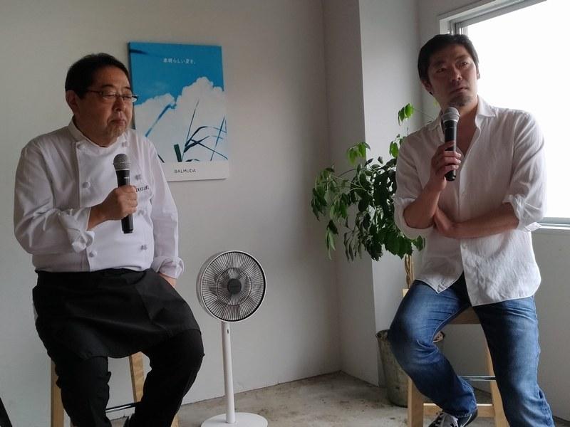 デリーの代表である田中源吾さんと開発秘話を披露