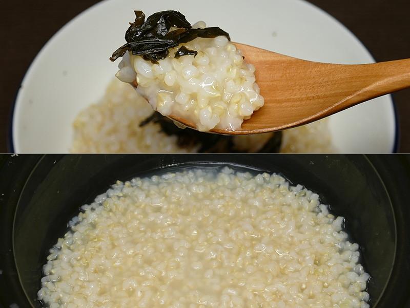【おかゆ・玄米】玄米とは思えないほどやわらかくて美味しい。食感も良い