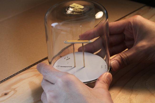 ガラスを使った手触りのあるデザイン