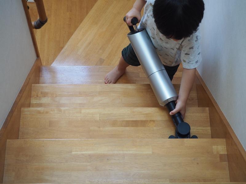 階段掃除がしやすくなる