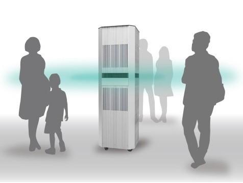 ヒートポンプ式エアコンを東京ミッドタウン日比谷1階のテラスに設置
