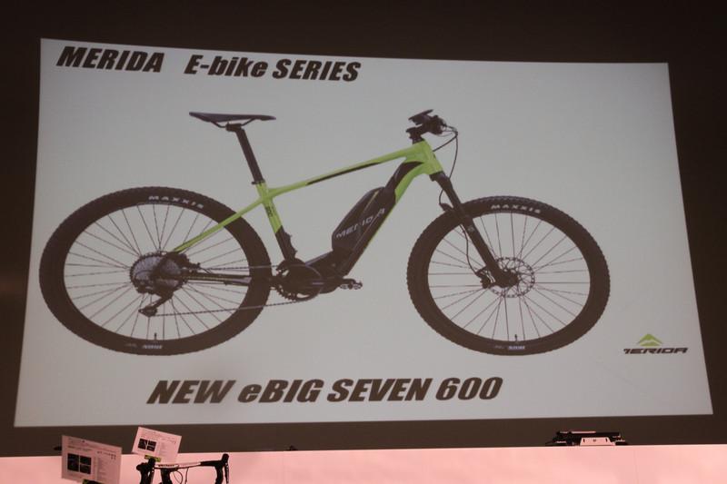 メリダブランドでは日本初となるe-bike「eBIG.SEVEN 600」が発表