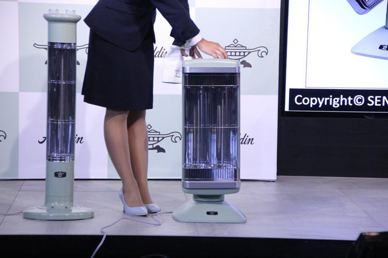 障害物がヒーターに近づくと電源が自動でオフになる「セーフティーサポートセンサー」を搭載