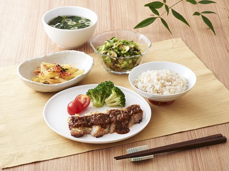 味噌カツ風定食