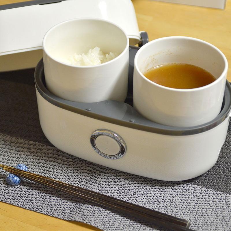 容器は炊飯以外に、おかずの温めなども行なえる